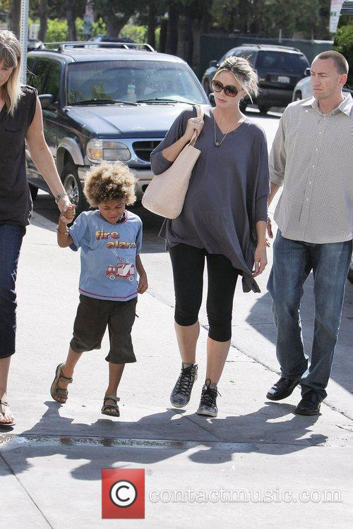 Henri with his nanny, Heidi Klum A very...