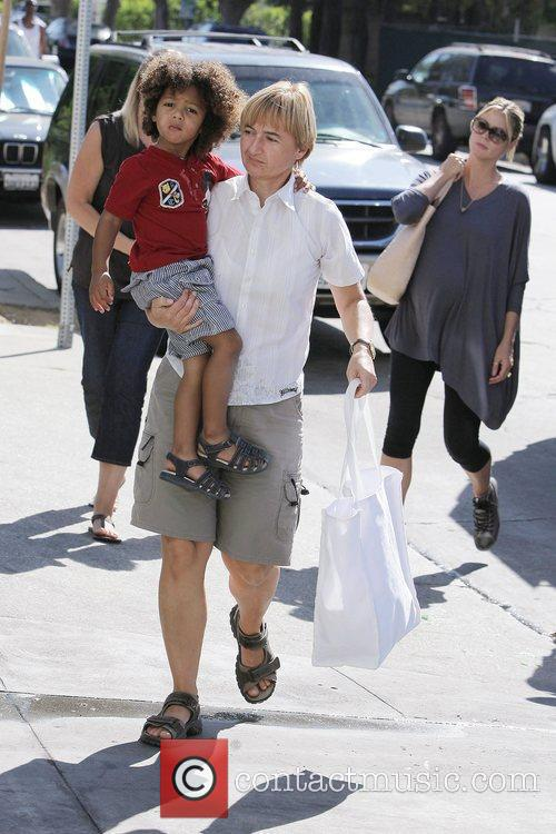 Johan with his nanny, Heidi Klum A very...
