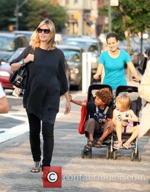 Heidi Klum and Family Walking In Greenwich Village 3