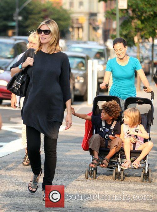 Heidi Klum and Family Walking In Greenwich Village 6