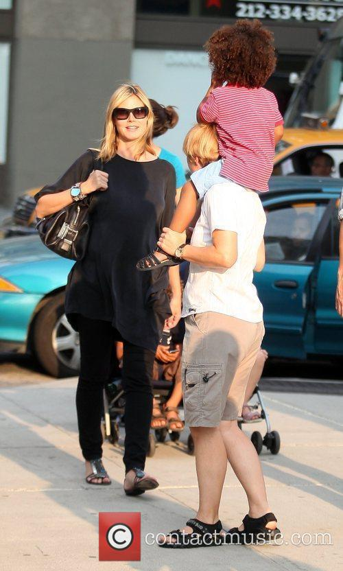 Heidi Klum and Family Walking In Greenwich Village 4