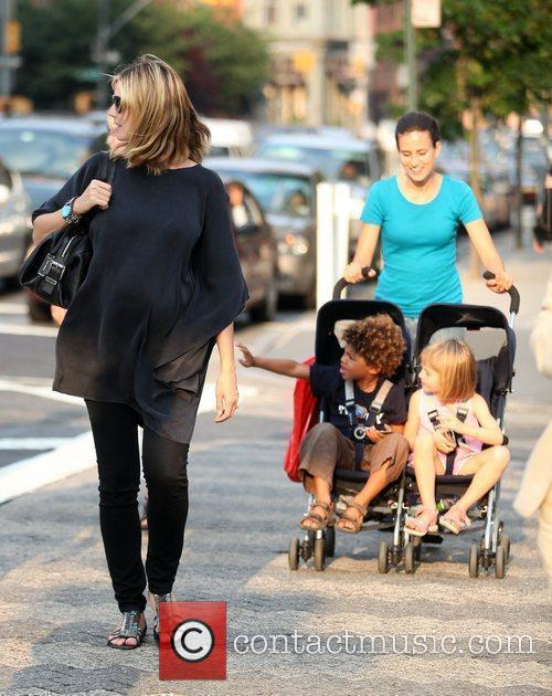 Heidi Klum and Family Walking In Greenwich Village 2