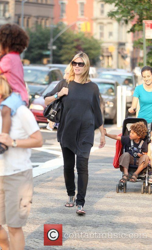 Heidi Klum and family walking in Greenwich Village 12