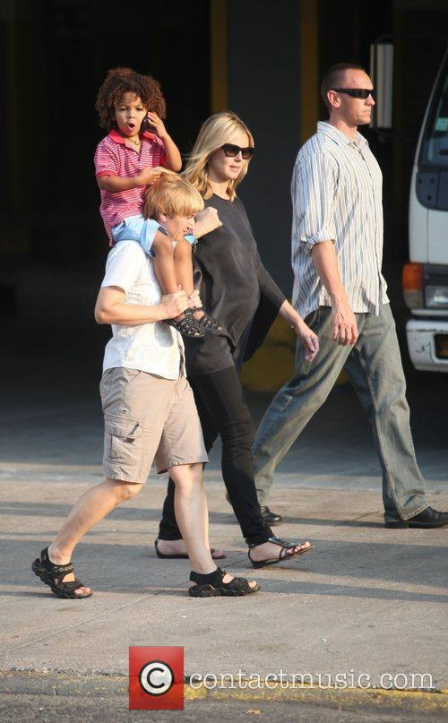 Heidi Klum and Family Walking In Greenwich Village 9