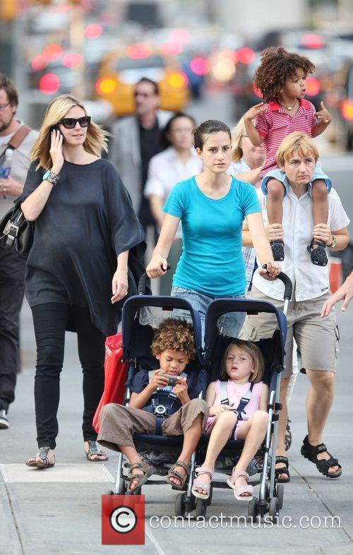 Heidi Klum and family walking in Greenwich Village 13