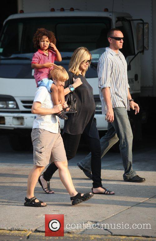 Heidi Klum and family walking in Greenwich Village 7