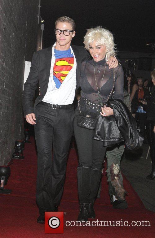 Derek Hough and guest Heidi Klum and her...
