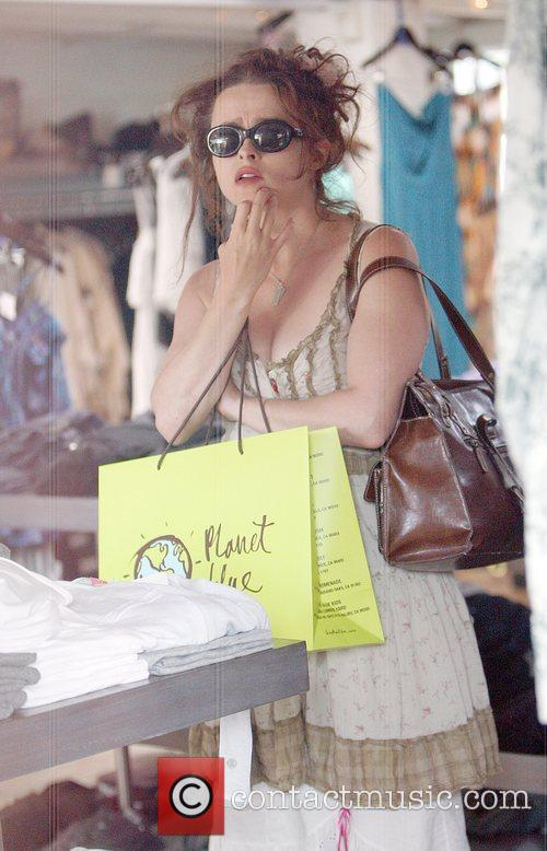 Helena Bonham Carter shopping in Malibu