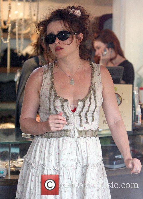 Helena Bonham Carter shopping in Malibu California, USA