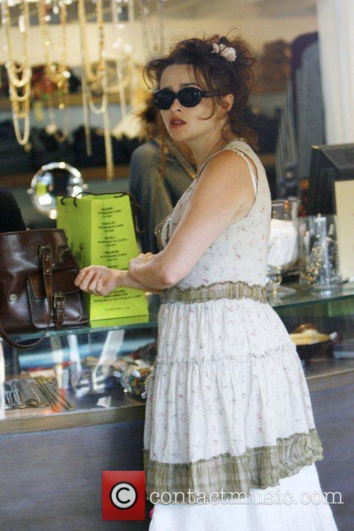 Helena Bonham Carter shopping in Malibu Malibu, California