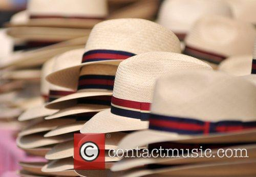 Atmosphere straw hats on sale at the Henley...