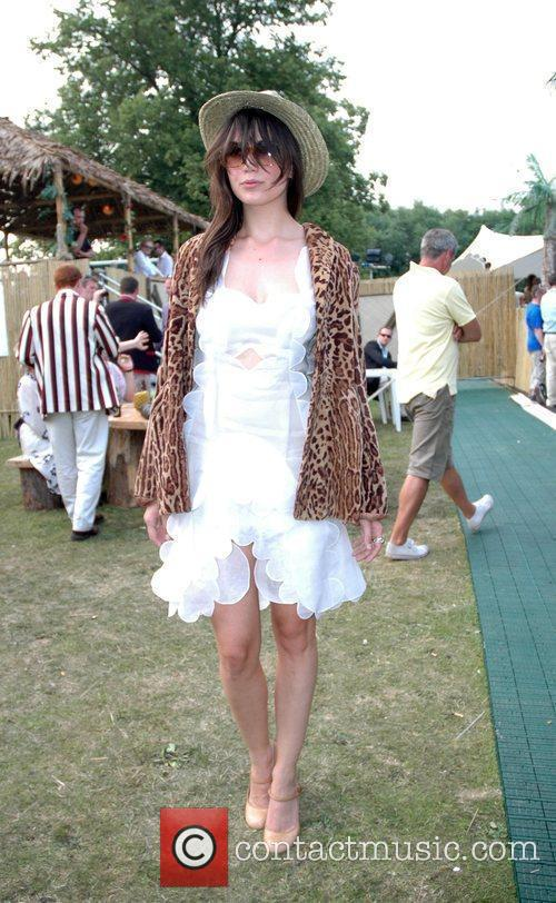 Daisy Lowe attends the Henley Royal Regatta. Oxfordshire,...