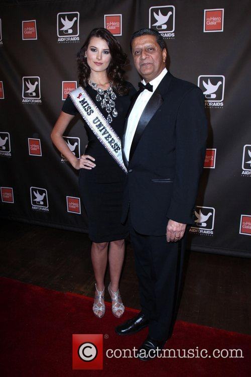 Miss Universe Stefania Fernandez and Guest The AID...