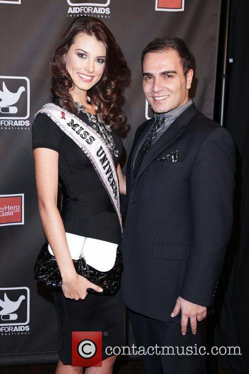 Miss Universe Stafania Fernandez The AID FOR AIDS...