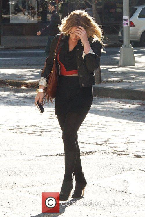 Hilary Duff on the set of 'Gossip Girl'...