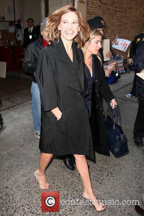 Hilary Swank leaving ABC studios