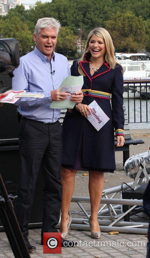 Holly Willoughby and Phillip Schofield  on the...