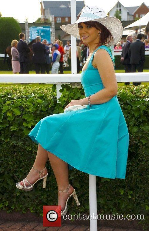Pays a visit to Chester races with other...