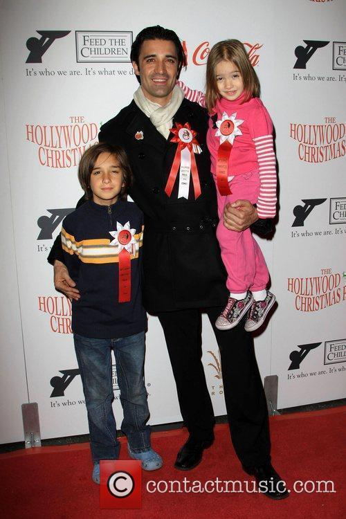 Gilles Marini with his children Georges and Juliana...