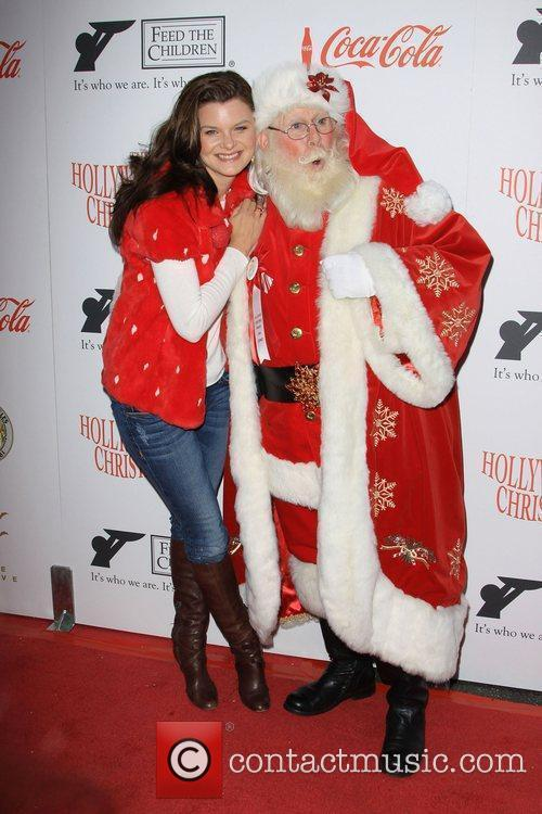 Heather Tom and Santa Claus The 2009 Hollywood...