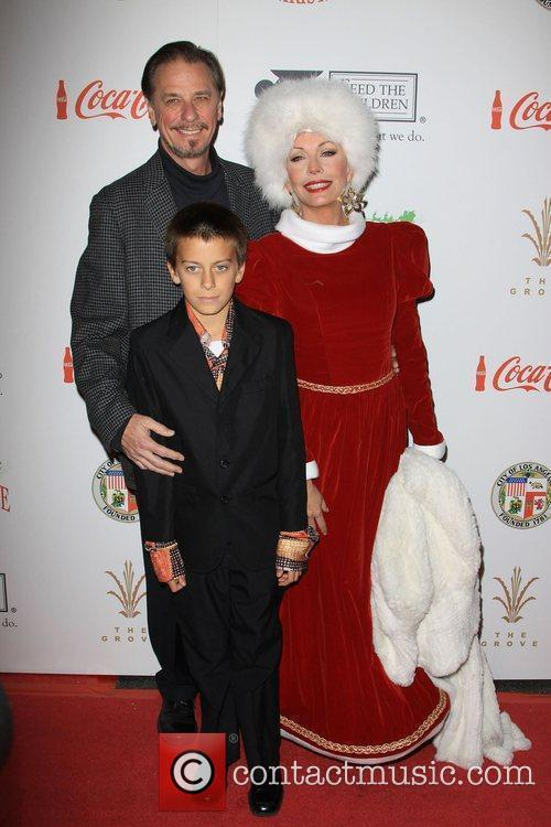 Lesley-Anne Down and Family The 2009 Hollywood Christmas...