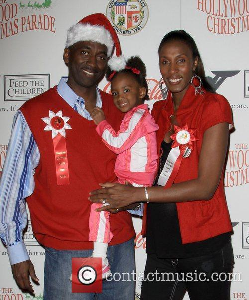 Lisa Leslie and Family The 2009 Hollywood Christmas...