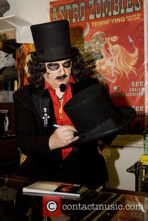 Svengoolie (Rich Koz) attends the signing in the...