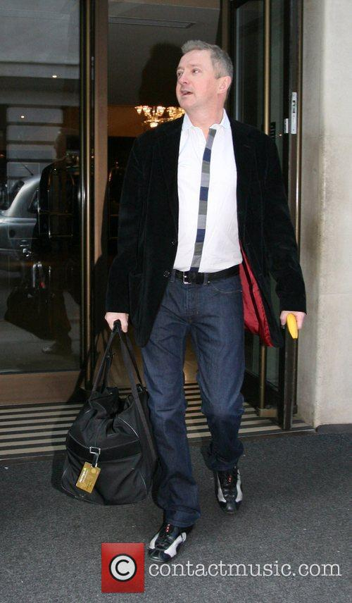 Leaving his hotel in Central London