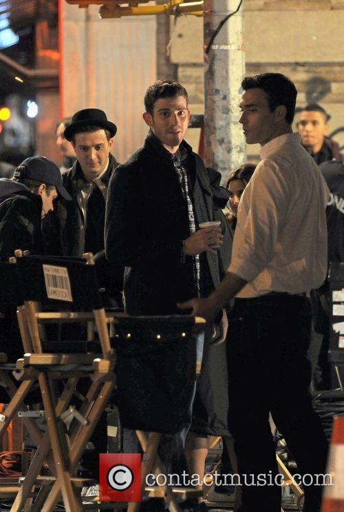 Bryan Greenberg on the set of the new...