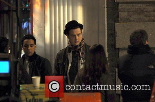 Eddie Kaye Thomas	 on the set of the...