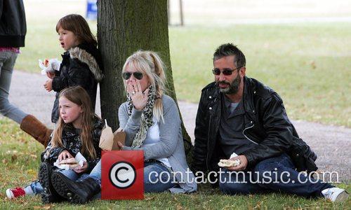 British Comedian, David Baddiel has a picnic with...