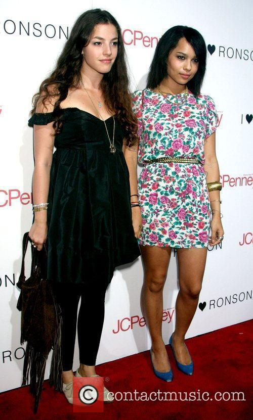 Olivia Thirlby and Zoe Kravitz attend the celebration...