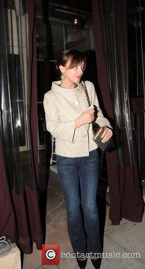 Christina Ricci leaving Il Sole where she had...