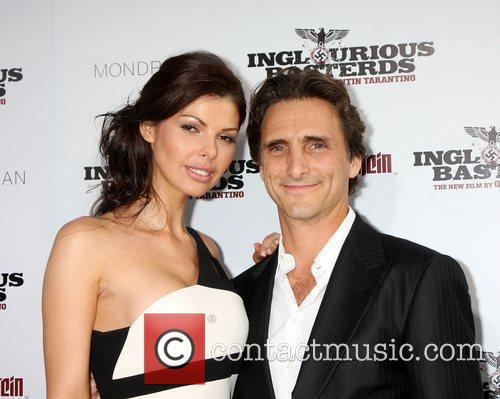 Lawrence Bender and Guest  Los Angeles Premiere...