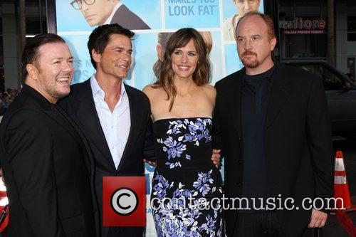 Ricky Gervais, Jennifer Garner and Rob Lowe 2