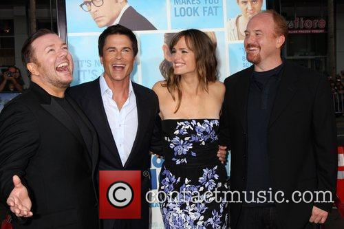 Ricky Gervais, Jennifer Garner and Rob Lowe 1