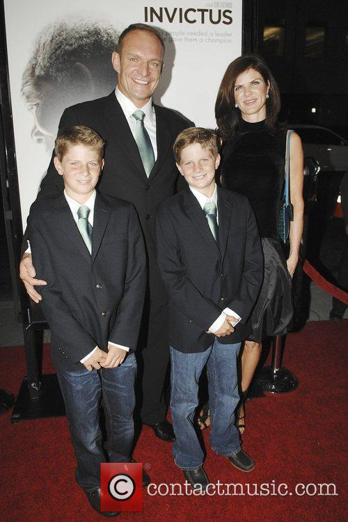 Francois Pienaar and family The Los Angeles premiere...