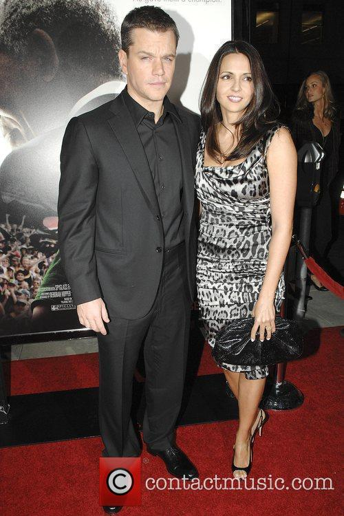 Matt Damon and wife Luciana The Los Angeles...