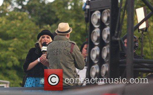 Fearne Cotton filming backstage Isle of Wight Music...