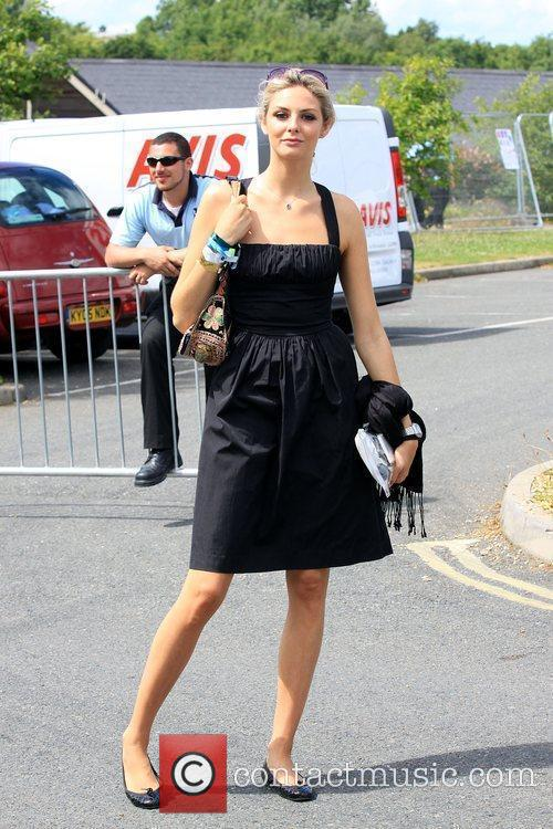 Tamsin Egerton backstage Isle of Wight Music Festival...