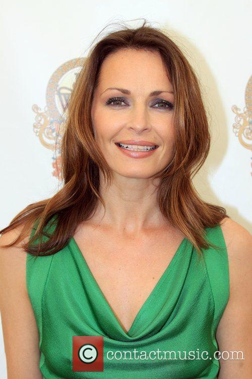 Sharon Corr backstage Isle of Wight Music Festival...