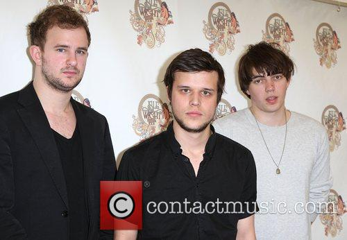 White Lies backstage Isle of Wight Music Festival...