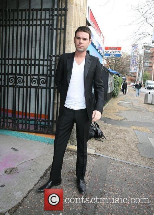 Dave Berry outside the ITV studios London, England