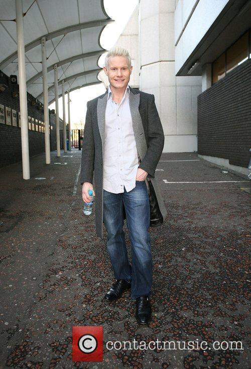 Rhydian Roberts outside the ITV studios London, England