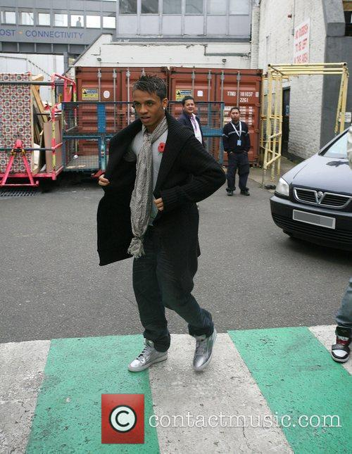 Aston Merrygold  JLS outside the ITV studios...