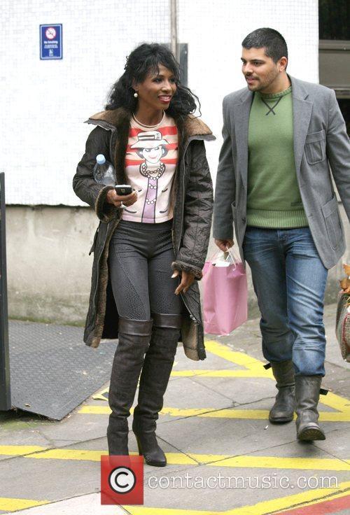 Sinitta leaving the ITV studios London, England