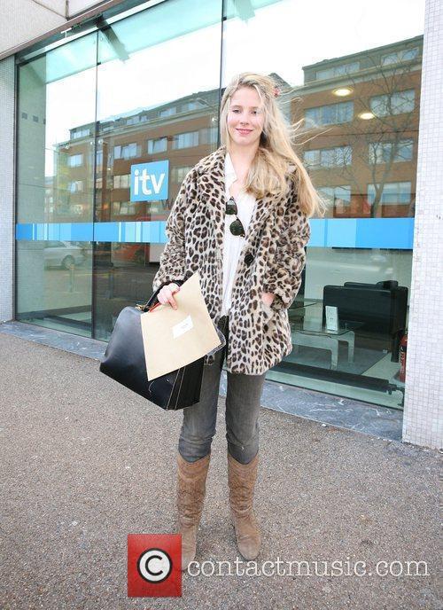 Sadie Pickering outside the ITV studios London, England