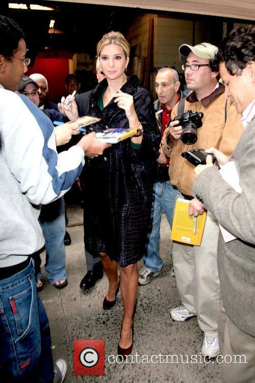 Signing autographs outside ABC studios after appearing on...