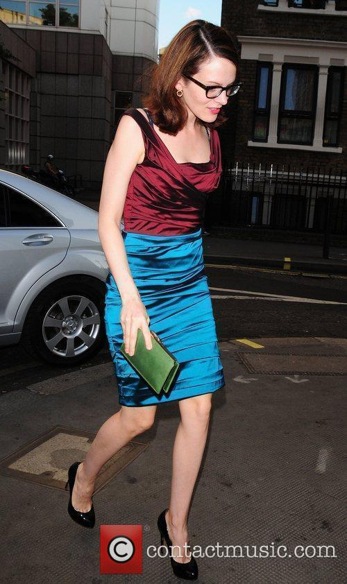 Anne Stringfield outside of the Ivy restaurant London,...
