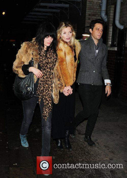 Kate Moss and Jamie Hince Leaving J Sheekey Restaurant With A Friend 8